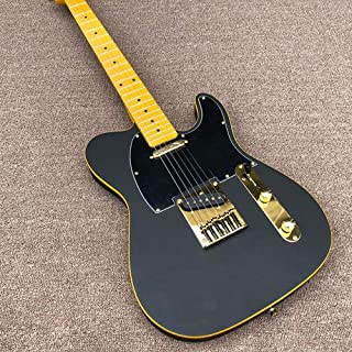 Electric Guitar Electric Guitar B Wood Body, Maple Neck Black Matte Paint Electric Guitar (Color : Guitar, Size : 41 inches)