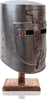 Crusader Helmet Full Size Decor Knight Templar Crusader Armor