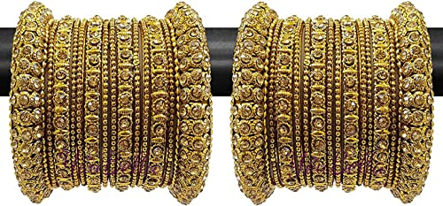 YouBella Fashion Jewellery Traditional Gold Plated Bracelet Bangles Set for Girls and Women product image