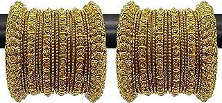 مجموعة اساور للنساء من المجوهرات التقليدية والانيقة مطلية بالذهب من يوبيلا (ذهبي) (YBBN_91505_2.4)