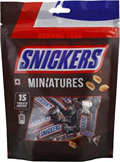 Snickers Miniatures Chocolate Mini Bars, Pouch, 150 gm