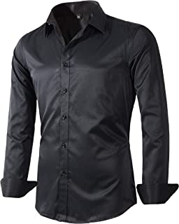 Sponsored Ad - Beninos Men's Dress Shirts Fitted Poplin Solid
