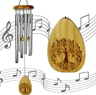 """ARARTKEL Wind Chimes in Memory of Loved One,30"""" Wooden Memorial Windchime Lifetree Chimes,Sympathy Wind Chimes Gift for Mo..."""