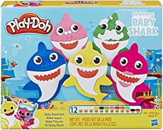 Play-Doh Pinkfong Baby Shark Set with 12 Non-Toxic Cans