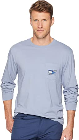 Long Sleeve Vampire Whale Pocket Tee