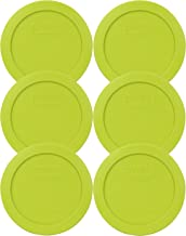 Pyrex 7200-PC 2 Cup Edamame Green Round Plastic Lid (6, Edamame Green)