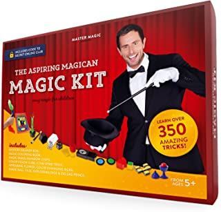 MasterMagic Magic Kit - Easy Magic Tricks for Children - Learn Over 350 Spectacular Tricks with This Magic Set - Ideal for Beginners and Kids of All Ages!