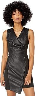 Women's Faux Leather Sheath Dress