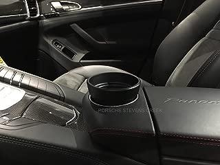 97055338400 OEM Porsche Cup Holder Insert PANAMERA OEM Tequipment Black Cupholder