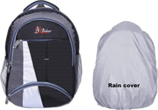 Blubags Waterproof Rain Cover School Backpack & Also for Laptop l College l Casual Bags (Black)