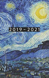 2019 - 2021: Weekly Planner Starting August 2019 - July 2021 | 5 x 8 Dated Agenda | 24 Month Appointment Calendar | Organizer Book | Soft-Cover Van Gogh Starry Night