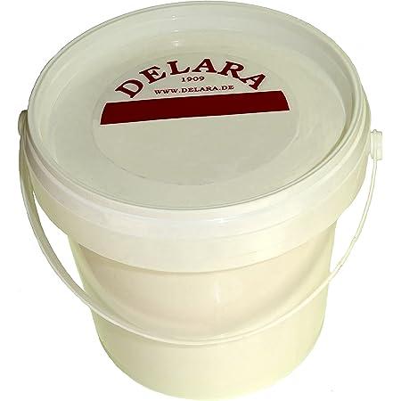 DELARA Baume pour Cuir avec de la Cire d'abeille de Haute qualité, Entretien du Cuir Qui Rend Le Cuir Doux, Souple et Respirant, Seau de 500 ML - incolore
