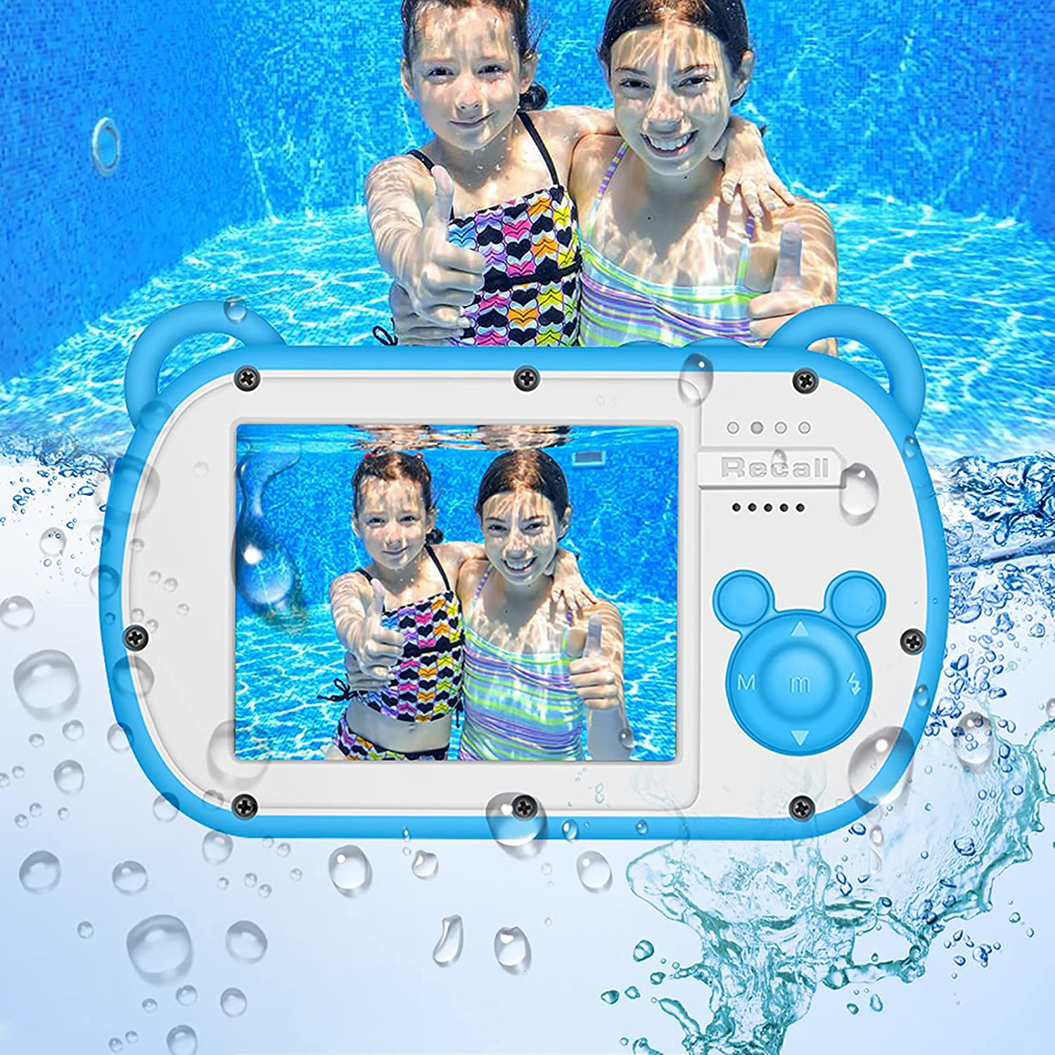 Underwater Camera for safety Kids 1080P Waterproof HD Video A surprise price is realized
