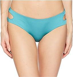 Solid Cutout Hipster Bikini Bottom