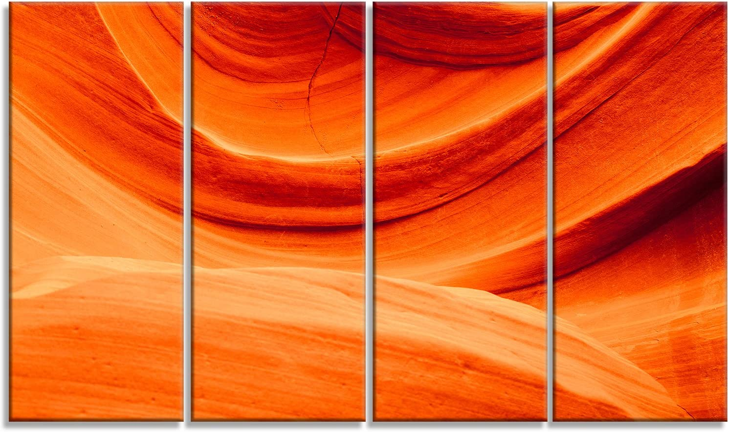 Designart Antelope Canyon Orange Wall-Landscape Pri Canvas Direct sale of manufacturer Photo Excellence