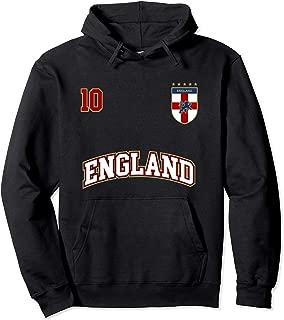 England Football Team Hoodie Number 10 English Flag Soccer