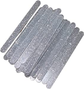 Sparkling Reusable Acrylic Popsicle Cake Cakesicle Mold Sticks- Set of 30 for Party Favors- Standard Size (Silver Glitter)