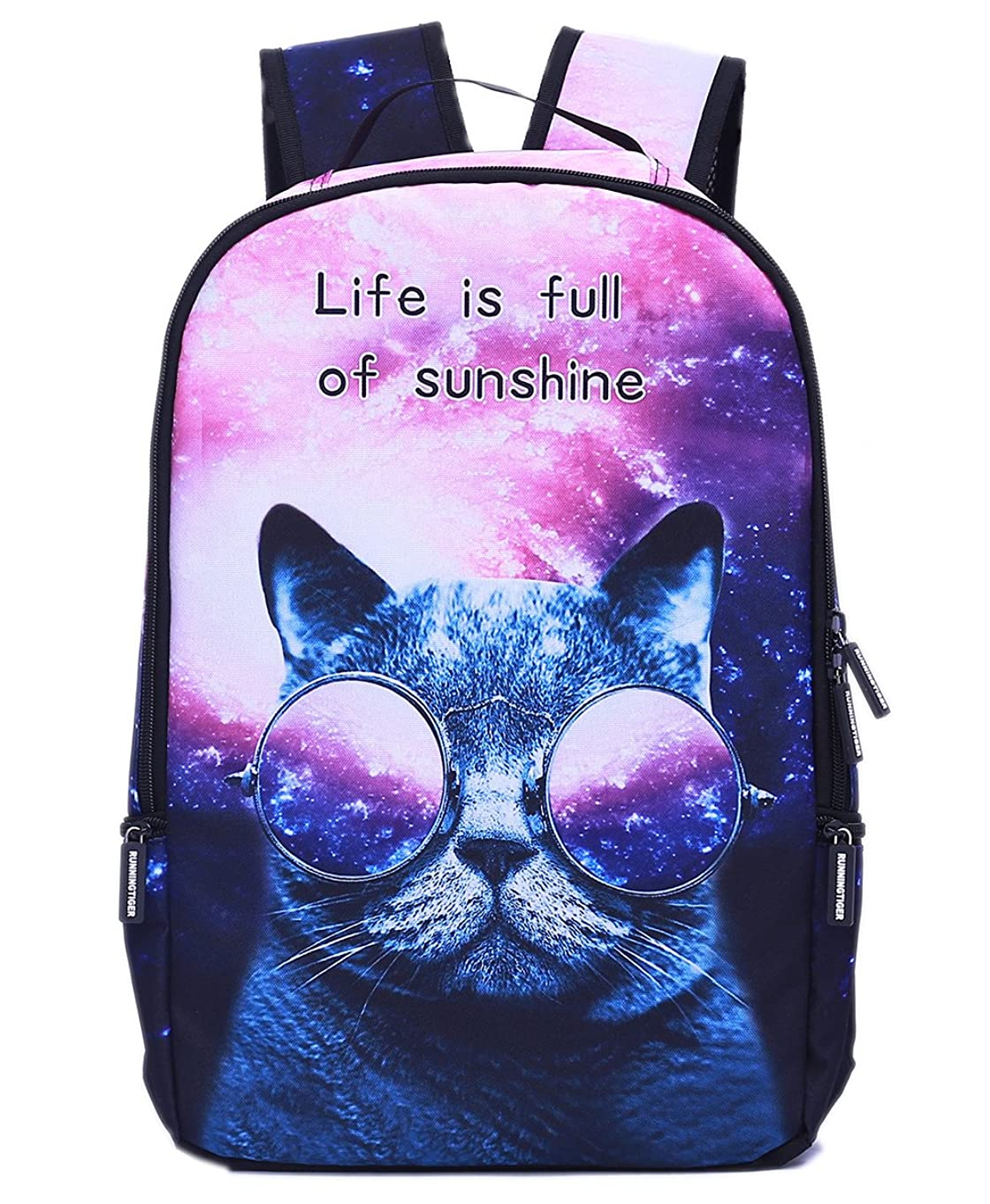 Galaxy Cat Backpack Lightweight School Backpack Laptop Bag for Students