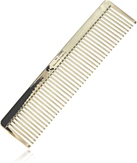 Masculine Craft Gold Beard Comb | Anti Static Fine to Medium Metal Hair Comb for Men | Heavy Duty Professional Beard Grooming Comb (Gold)