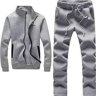 X-2 Athletic Full Zip Fleece Tracksuit Jogging Sweatsuit Activewear