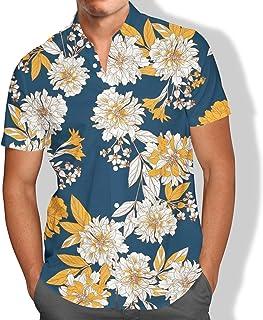 Camisa Praia Flores Tropicais Sol Mar Férias Masculino