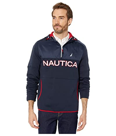 Nautica Color Blocked Sweater (Navy) Men