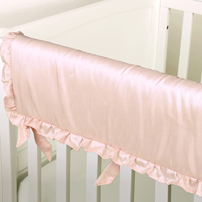 Arianna Pink Padded Crib Rail Guard By The Peanut Shell