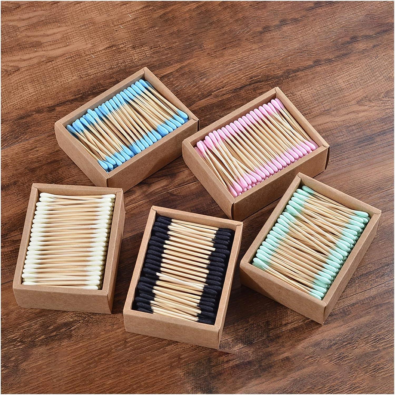 LLZJ 1000Pcs Color Mix Bamboo Max 58% OFF Cotton Double Detroit Mall Makeup Head C Adults