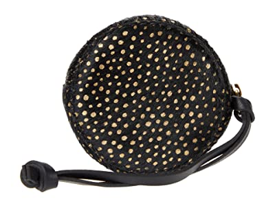 Madewell Small Circle Hanging Pouch: Haircalf Edition (True Black Multi) Handbags