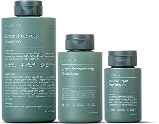 مجموعه بازیابی پوست سر برای آقایان: شامل شامپوی بازیابی کراتین برای تقویت رشد نرم کننده کراتین رشد مو برای ترمیم درمان پوست سر برای بهبود سلامت مو - توسط لومین