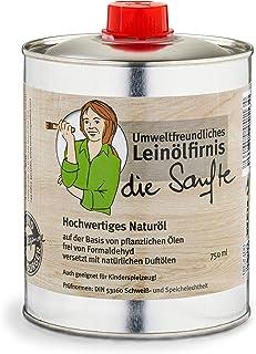 Aceite de linaza suave y respetuoso con el medio ambiente, 0,75 litros, aceite de madera prémium para interiores, sin colo...