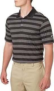 Men's Tech Stripe Golf Polo, (Black, XL)