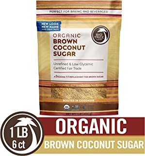 Big Tree Farms Organic Brown Coconut Sugar, Non-GMO, Gluten Free, Vegan, Fair Trade, Natural Sweetener, 1 Pound (Pack of 6) (Packaging May Vary)