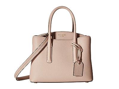 Kate Spade New York Margaux Medium Satchel (Pale Vellum) Satchel Handbags