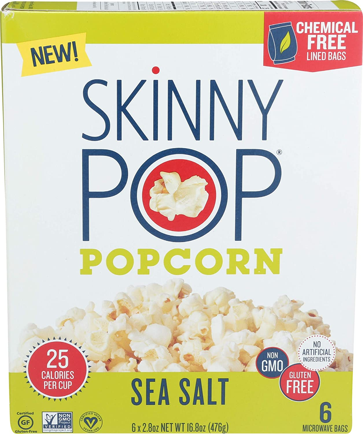 SKINNY POP Sea Don't miss the campaign Salt OZ Microwave 16.8 Beauty products Popcorn