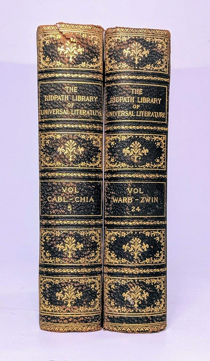 Books for Decor - The Ridpath Library of Universal Literature 1898-2 books bqh8504686