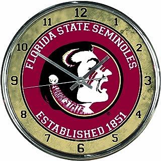 NCAA Florida State Seminoles Chrome Clock