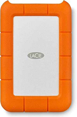 LaCie Rugged Mini 2TB External Hard Drive Portable HDD – USB 3.0 USB 2.0 Compatible, Drop Shock Dust Rain Resistant S...
