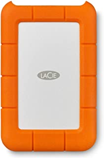 LaCie (LAC9000633) Rugged Mini 4TB External Hard Drive Portable HDD – USB 3.0 USB 2.0 Compatible, Drop Shock Dust Rain Res...