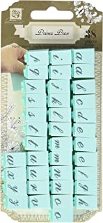 Prima Marketing PPAS-60843 Press Alphabet Stamp Set, 0.25-Inch, Characters No.1