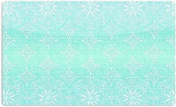 "KESS InHouse Suzie Tremel ""Medallion Aqua Ombre"" Blue Teal Artistic Aluminum Magnet, 2"" by 3"", Multicolor"