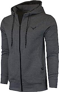 SCREENSHOT Sports Men's Gym Workout Full-Zip Hooded Active Sweatshirt