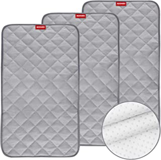 """Changing Pad Liners 3 Pack, Waterproof Changing Table Cover, Bamboo Quilted with Non-Slip Back(14"""" x 27""""), Ultra Absorbent..."""