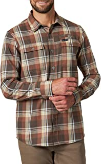 ATG by Wrangler Men`s Long Sleeve Eco Utility Flannel Shirt