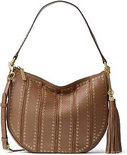 4bd886a0b9f3 MICHAEL Michael Kors Womens Brooklyn Leather Hobo Handbag Brown Large