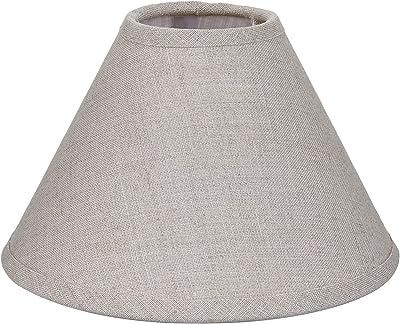Better & Best 2053185–écran de lampe de lin, avec forme de Chine, de 18cm, lisse, couleur taupe