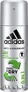 Adidas Dezodorant w sprayu 6 w 1 Cool & Dry 48 h, 6 x 150 ml