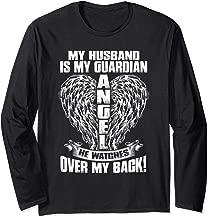 For Women Loss Husband My Husband is My Guardian Angel Long Sleeve T-Shirt