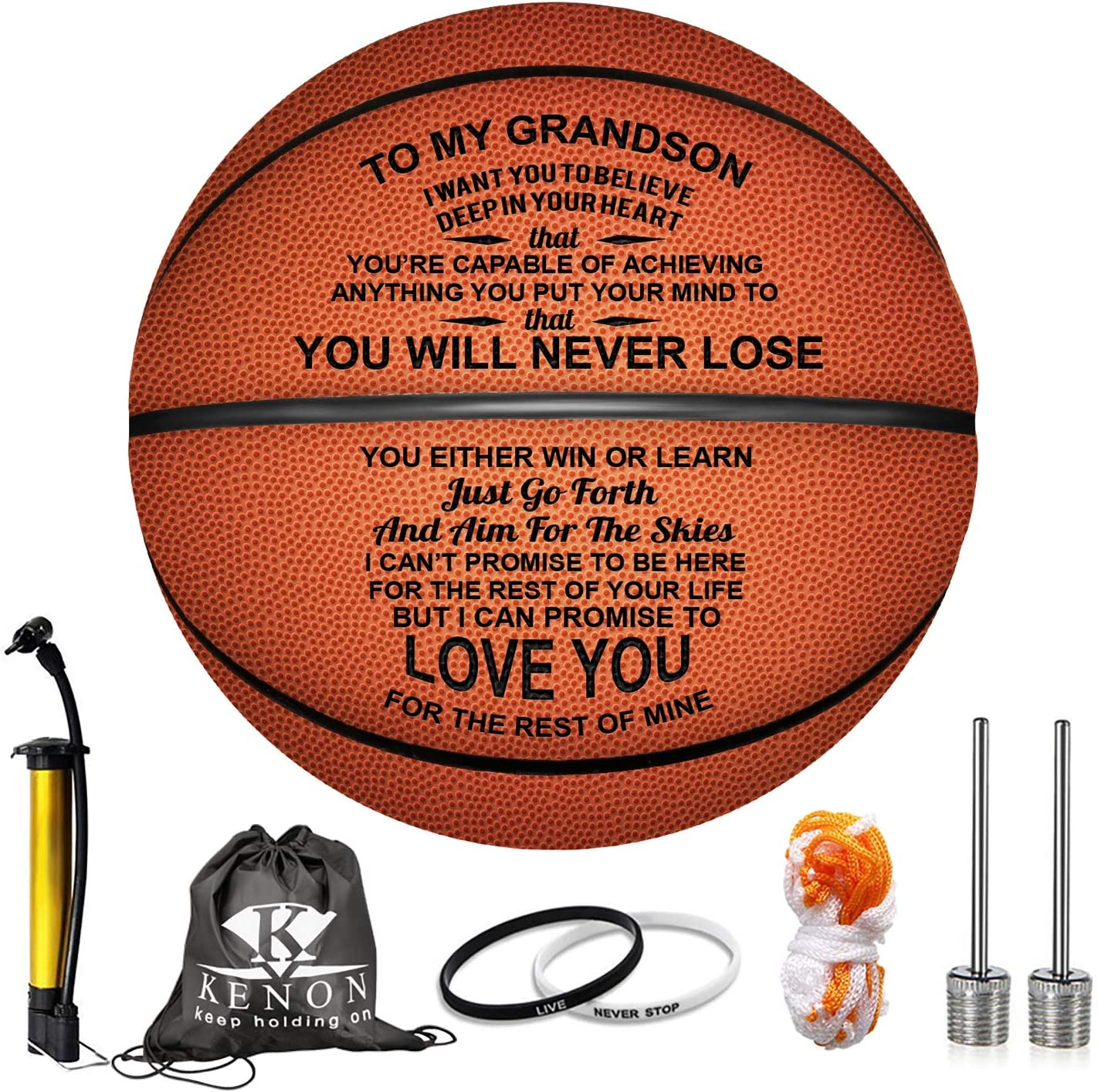 Kenon Engraved Quantity limited 29.5 Inch Basketball Baske Son Rapid rise for Personalized -