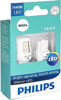 Philips 7440 Ultinon LED Bulb (White), 2 Pack